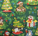 Fat Quarter - Big Cat Designs - Holiday Helpers