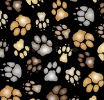 Big Cats - Paws - Black