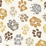 Big Cats - Paws - Cream