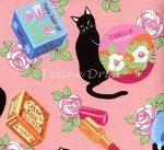 Fat Quarter - Black Cat II - Pink