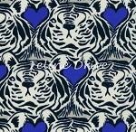 Fat Quarter - Bluebird - Tiger Heart