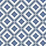 Fat Quarter - Blue Moon - Fleur de Lis Diamond