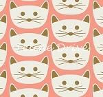 Fat Quarter - Blush - Cat Nap - Pink
