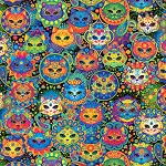 Bright Cat Sugar Skulls