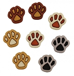 Buttons - Paw Prints