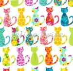 Fat Quarter - Calico Cats