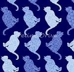Fat Quarter - Cat-Centric - Cat Rows - Blue