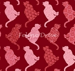 Cat-Centric - Cat Rows - Red