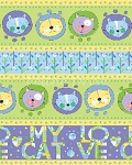 End of Bolt Piece - Cat Crazy - Cat Border - 35
