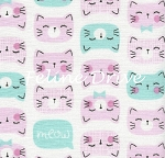 Cat Faces - Pink