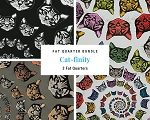 Fat Quarter Bundle - Cat-finity - 3 FQs