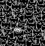 Cat Happy - Cat Faces - Black