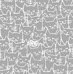 Cat Happy - Cat Faces - Grey