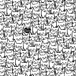 Cat Happy - Cat Faces - White