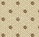 Fat Quarter - Cat in the Manor - Cream Floral Dot