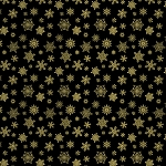 Cat-i-tude Christmas - Metallic Snowflakes - Black