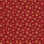 Cat-i-tude Christmas - Metallic Snowflakes - Red