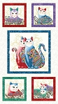 Cat-i-tude 2 - Purrfect Together - Block Panel - White