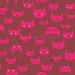 Catnap - Cat Faces - Pink