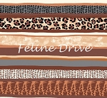 Fat Quarter - Cat Nip Collection - Feline Stripe