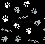 Cats Rule - Paws - Black
