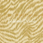 Fat Quarter - Cats The Way I Like It - Cat Fur - Dark Gold