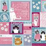 Fat Quarter - Cattitude - Cat Patch