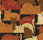 End of Bolt Piece - Cheryl Haynes' Crafty Cats - Packed Cats - Spice - 16
