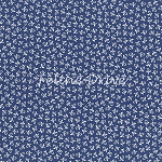 Fat Quarter - Chirp - Flower Bud - Navy