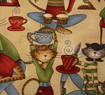 Fat Quarter - Coffee Cat Cafe