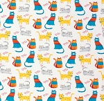 Flannel - Colorful Happy Cats