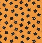 Costume Makers Ball - Cat Buttons - Orange