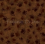 Counting Kittens - Paw Prints - Brown