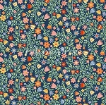 Crafty Cats - Floral - Blue
