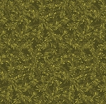 Fat Quarter - Cheryl Haynes' Crafty Cats - Leaf Dance - Green