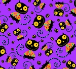 Creepy Halloweenies - Cats - Purple