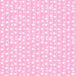 Fat Quarter - Flannel - Cuddly Kittens 2 - Stars - Pink
