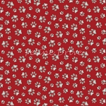 Curious Cats - Paw Prints - Red