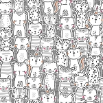 Meowgical - A Pawsome Bunch - Gray