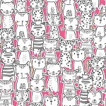 Meowgical - A Pawsome Bunch - Pink
