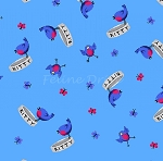 End of Bolt Piece - Day Dreamers - Birds - Blue - 6