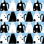 End of Bolt Piece - Day Dreamers - Black & White Cats - 22