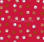 End of Bolt Piece - Doodlebug Paws - Red - 12