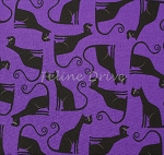 End of Bolt Piece - Eerie Alley - Cats - Purple - 5.5