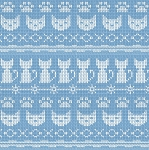 End of Bolt Piece - Fair Isle Friends - Stripe - Denim - 7