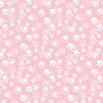 Fancy Cats - Paw Print - Pink