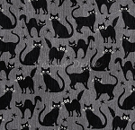 End of Bolt Piece - Fangtastic - Glow in the Dark Cats - Grey - 15