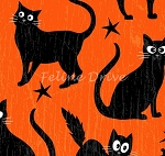 End of Bolt Piece - Fangtastic - Glow in the Dark Cats - Orange - 8