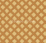 Feline Fine - Basketweave - Brown/Gold