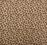 Fat Quarter - Flannel - Leopard Spots - Brown